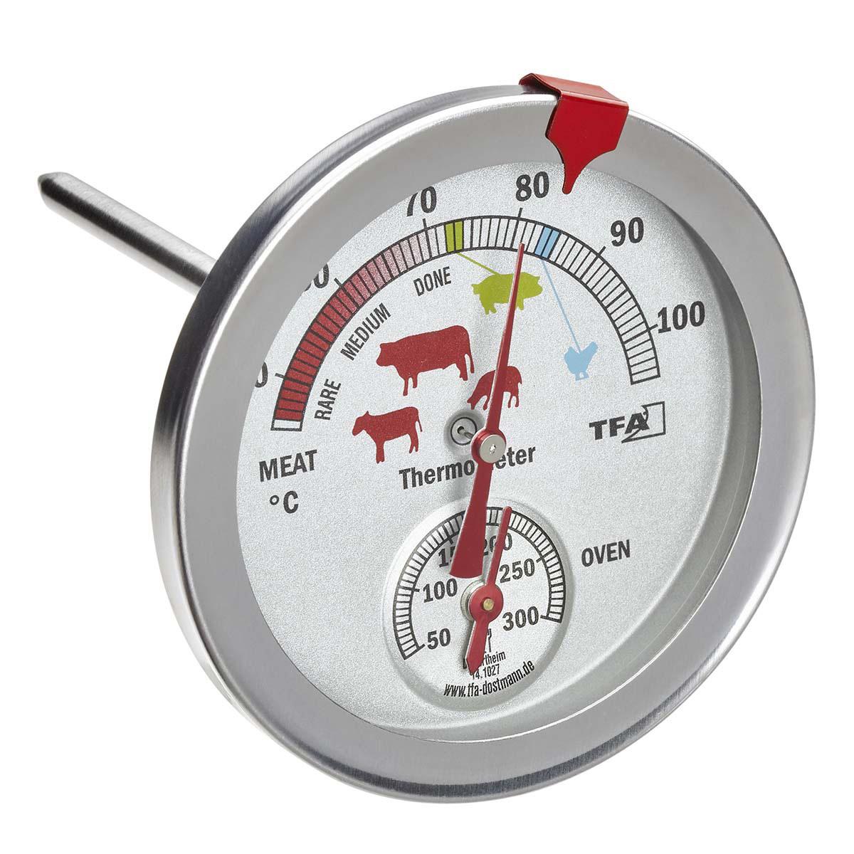 aus Edelstahl Analoges Fettthermometer praktischer Küchenhelfer