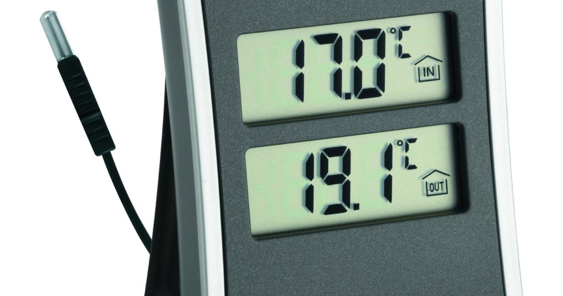 digitales innen au en thermometer tfa dostmann. Black Bedroom Furniture Sets. Home Design Ideas