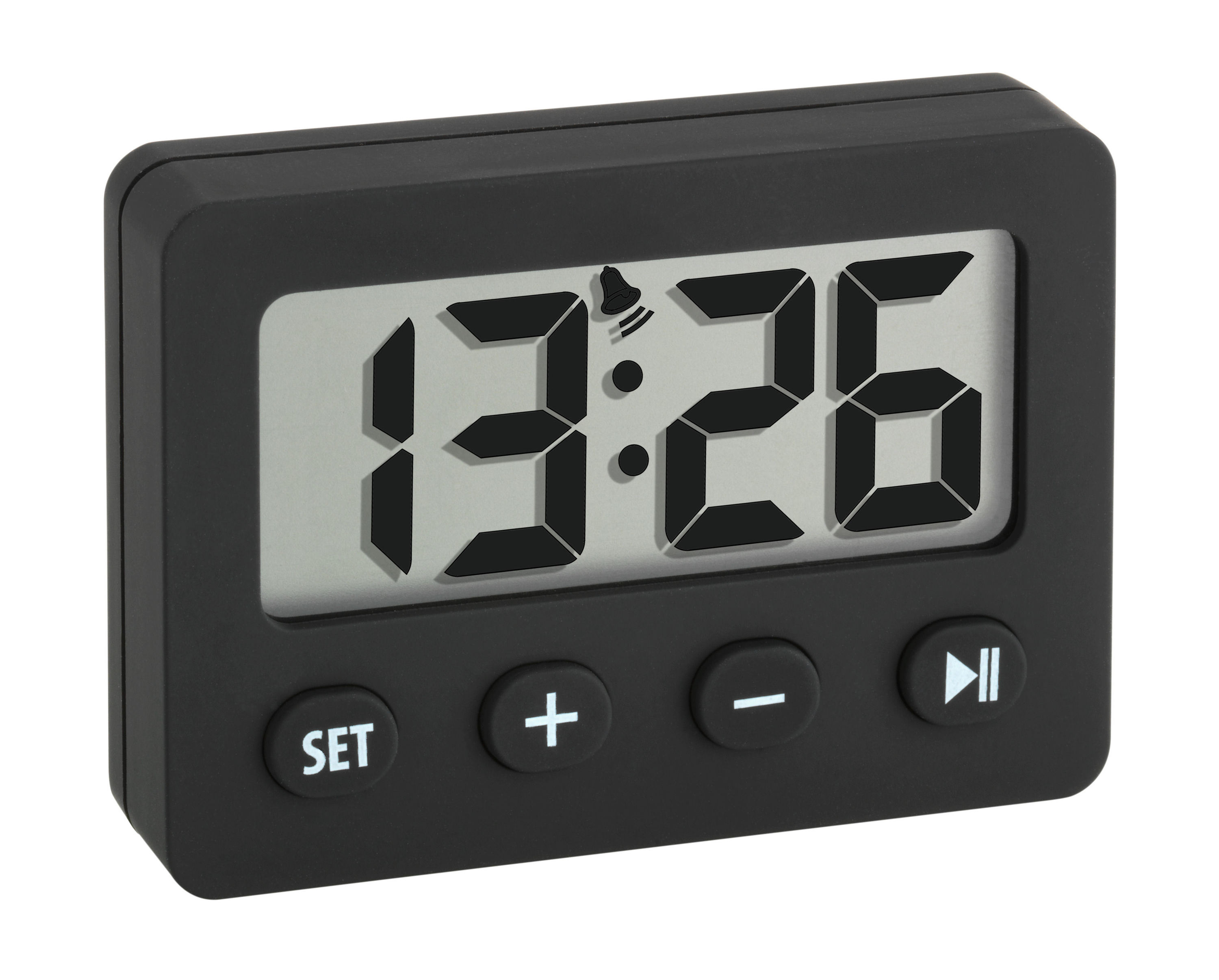 digital alarm clock with timer and stopwatch tfa dostmann