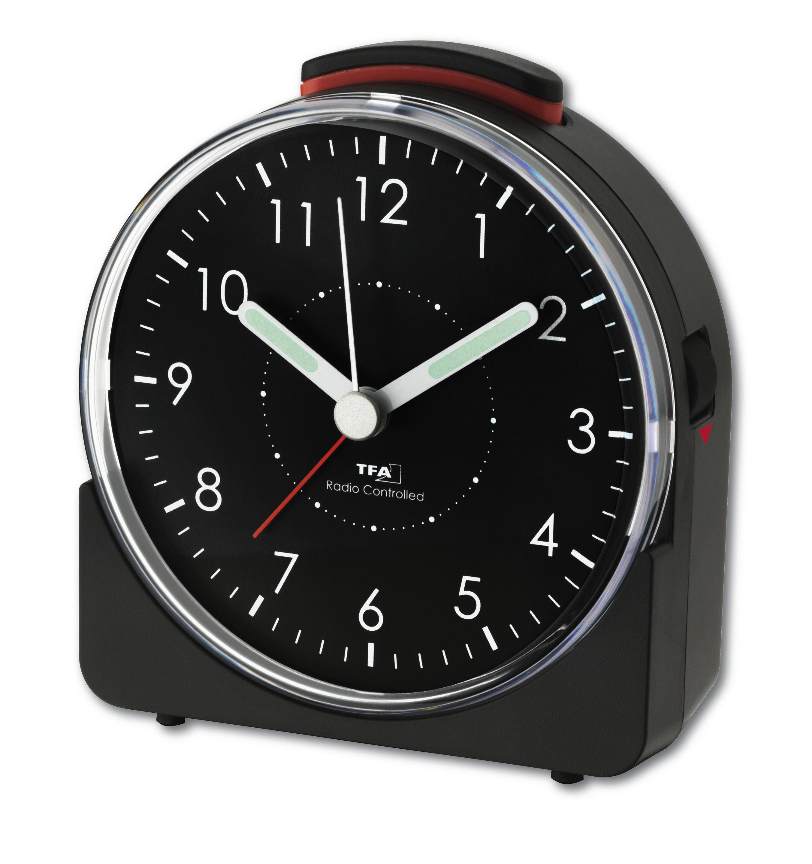 Analogue radio-controlled alarm clock SUNRISE | TFA Dostmann