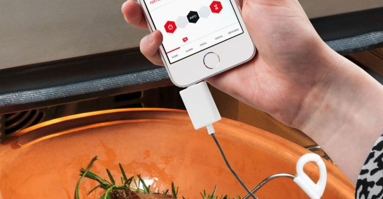 Einstichthermometer für Smartphones