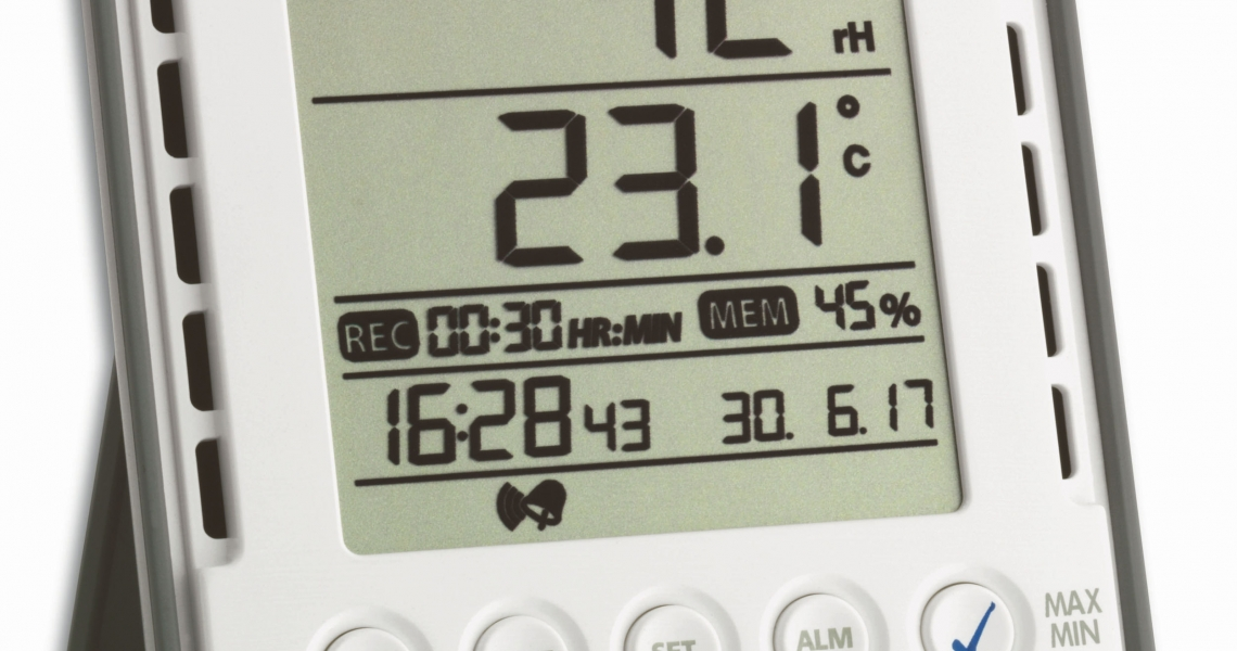 profi thermo hygrometer mit datenlogger funktion klimalogg base tfa dostmann. Black Bedroom Furniture Sets. Home Design Ideas