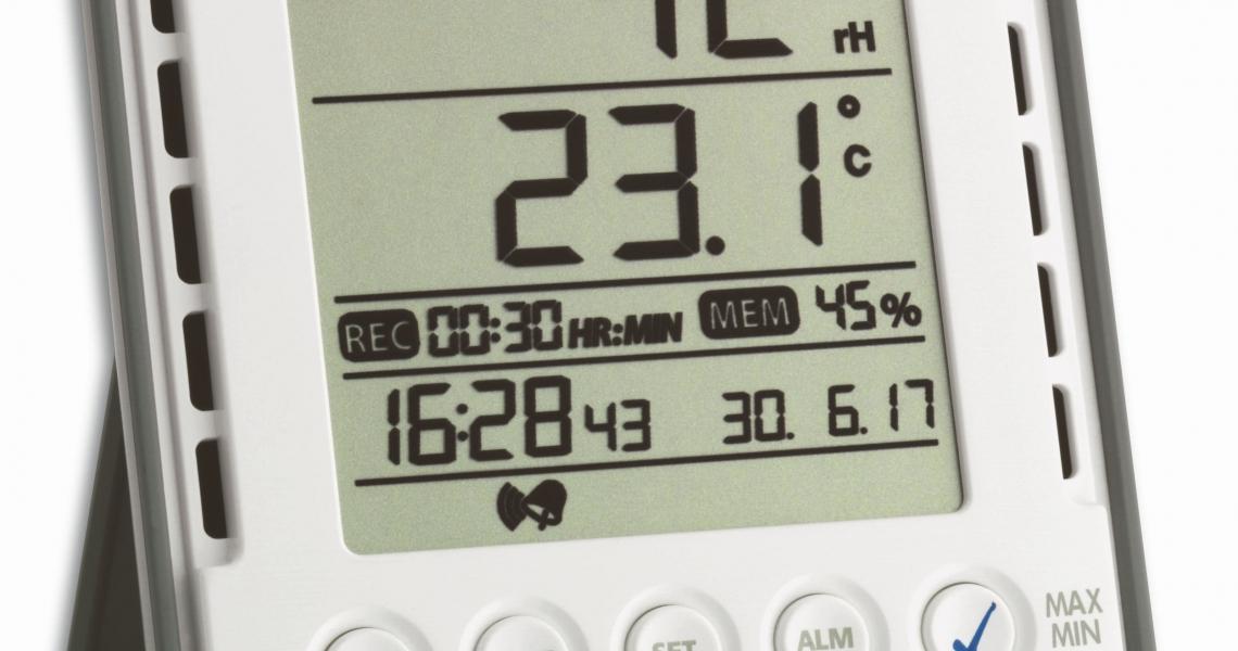 profi thermo hygrometer mit datenlogger funktion klimalogg. Black Bedroom Furniture Sets. Home Design Ideas