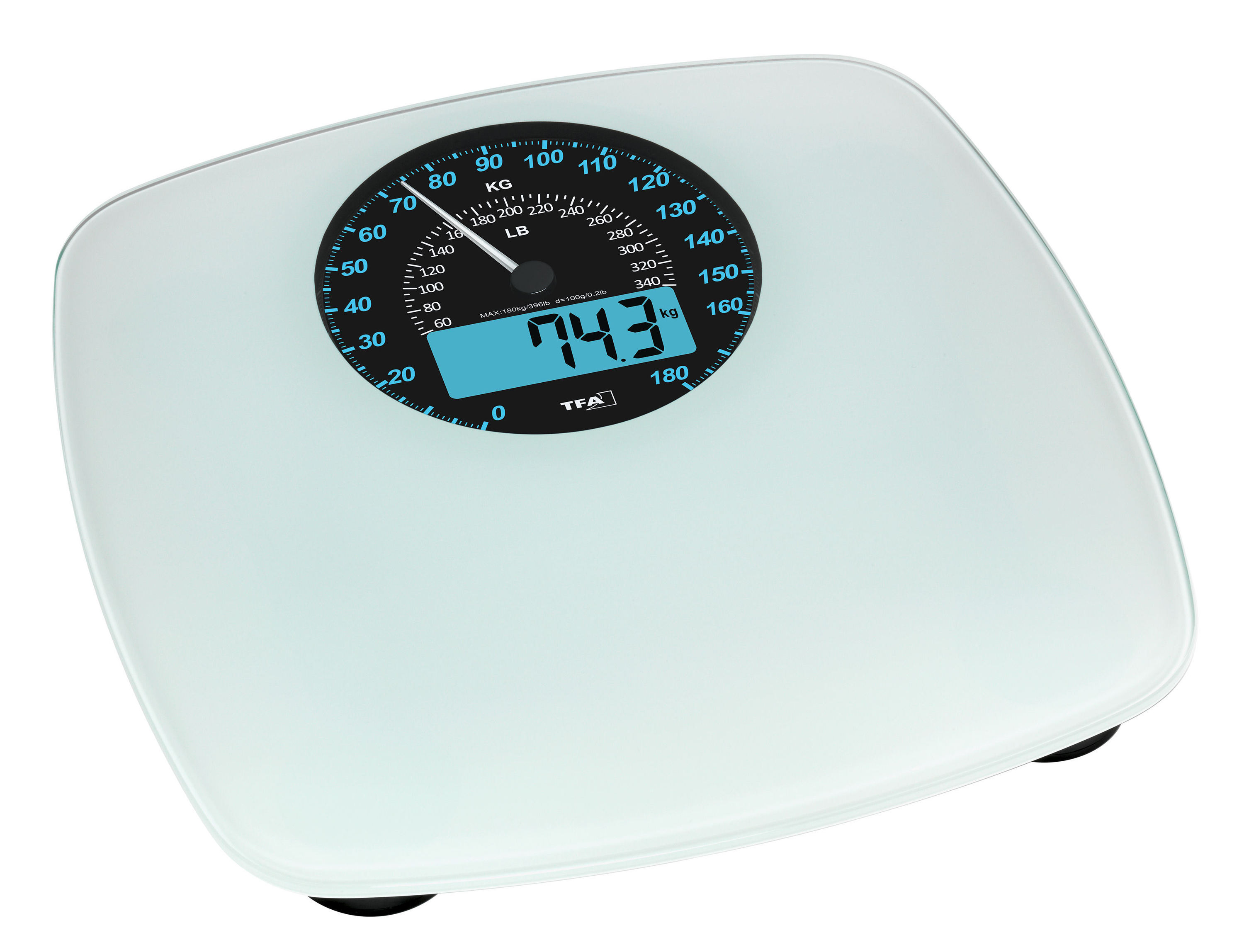 Bathroom Scales with digital and analogue display SWING