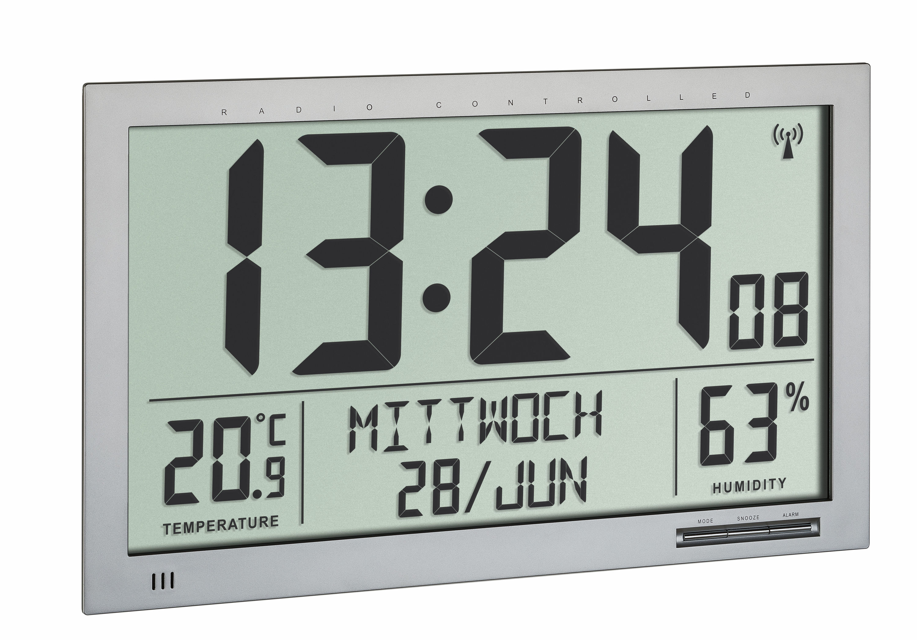 Digital Xl Radio Controlled Wall Clock With Room Climate Tfa Dostmann