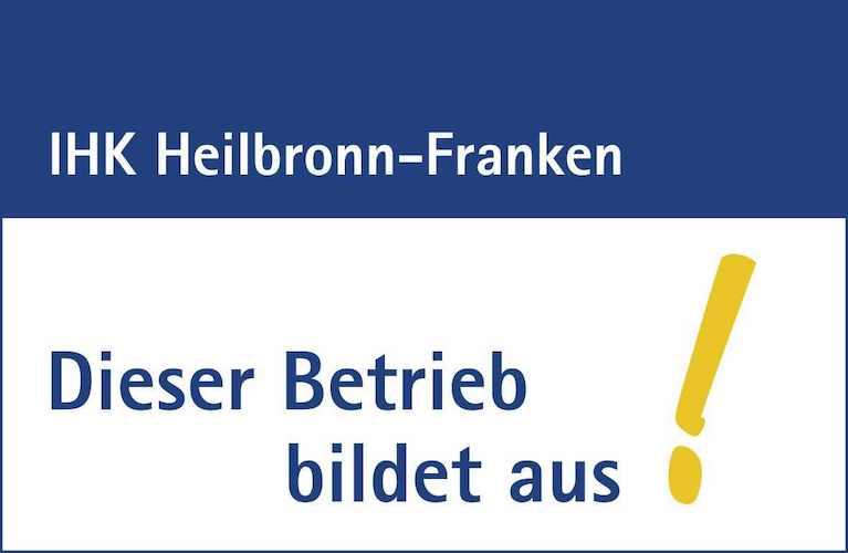 Siegel der IHK Heilbronn-Franken für TFA Dostmann als Ausbildungsbetrieb: Dieser Betrieb bildet aus!