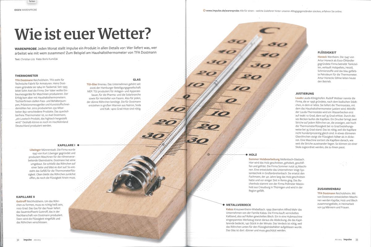 Impulse Magazin Bericht über TFA