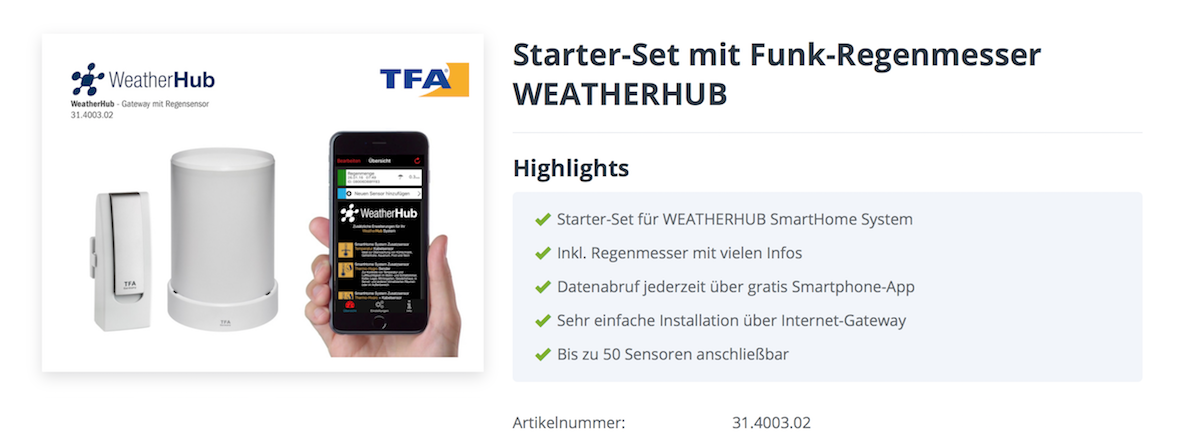 Weather Hub Starter Set TFA