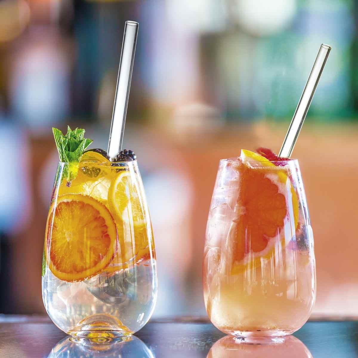 Glasstrohhalme für Cocktails & Co. Glasstrohhalme als sinnvolle, wiederverwendbare und nachhaltige Alternative