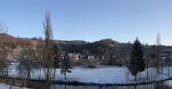 Frisch gefallener Schnee in Reicholzheim im Taubertal