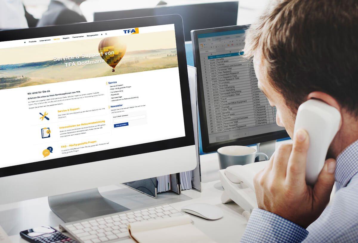 Der Technische Kundendienst von TFA Dostmann hilft jederzeit weiter