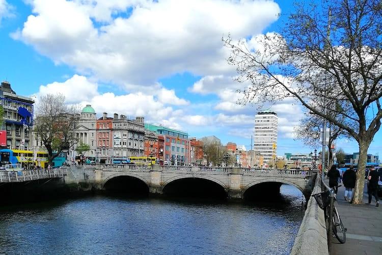 O'Connel Bridge in Dublin, fotografiert von Hannah während ihres Auslandspraktikums