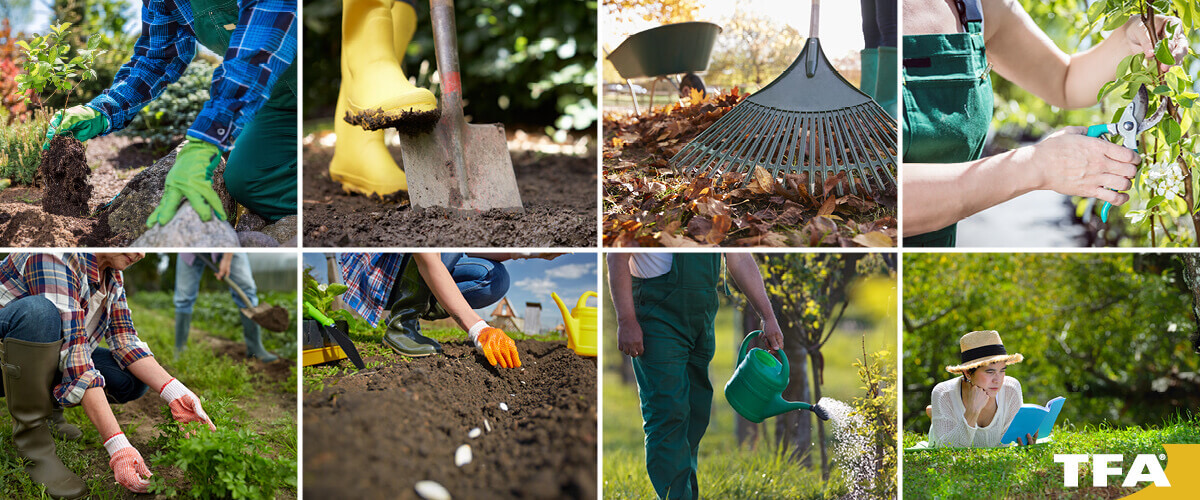 Checkliste Gartenpflege im Frühling. Gartensaison startet mit Zeitumstellung auf Sommerzeit.